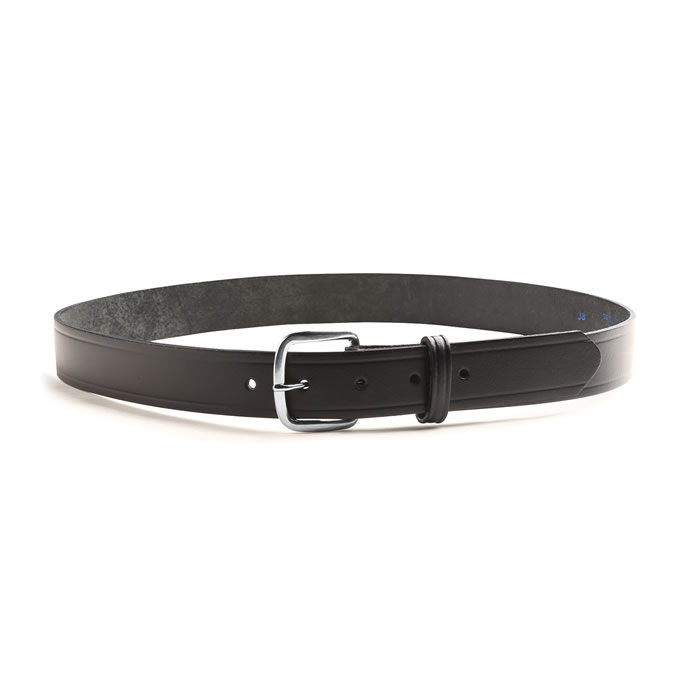 "Black Leather Belt 1-1/4"" Wide"