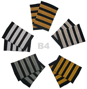 Airline Captain Epaulet 4 Stripe Bars