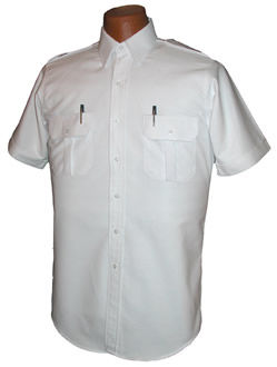 Pilot House Relaxed Short Sleeved Airline Pilot Oxford Shirt