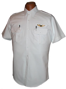 Pilot House Relaxed Short Sleeved Oxford Airline Pilot Shirt