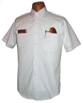 Short Sleeve Relaxed Oxford Pilot Shirt with V-hem Pocket