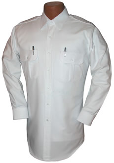 Pilot House Long Sleeved Tapered Oxford Airline Pilot Shirt