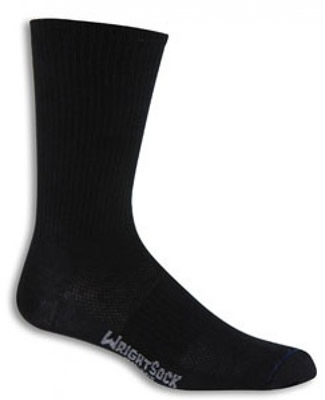 Wrightsock Cushioned DLX Black Crew - Large