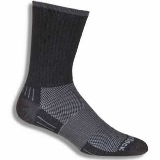 Wrightsock Midweight Black Crew - Large