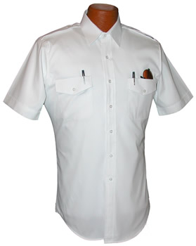 Pilot House Short Sleeved Tapered Oxford Airline Pilot Shirt