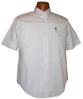 Van Heusen Aviator Short Sleeve Pilot Shirt