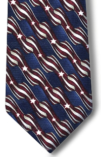 Four in Hand Stars & Stripes Tie
